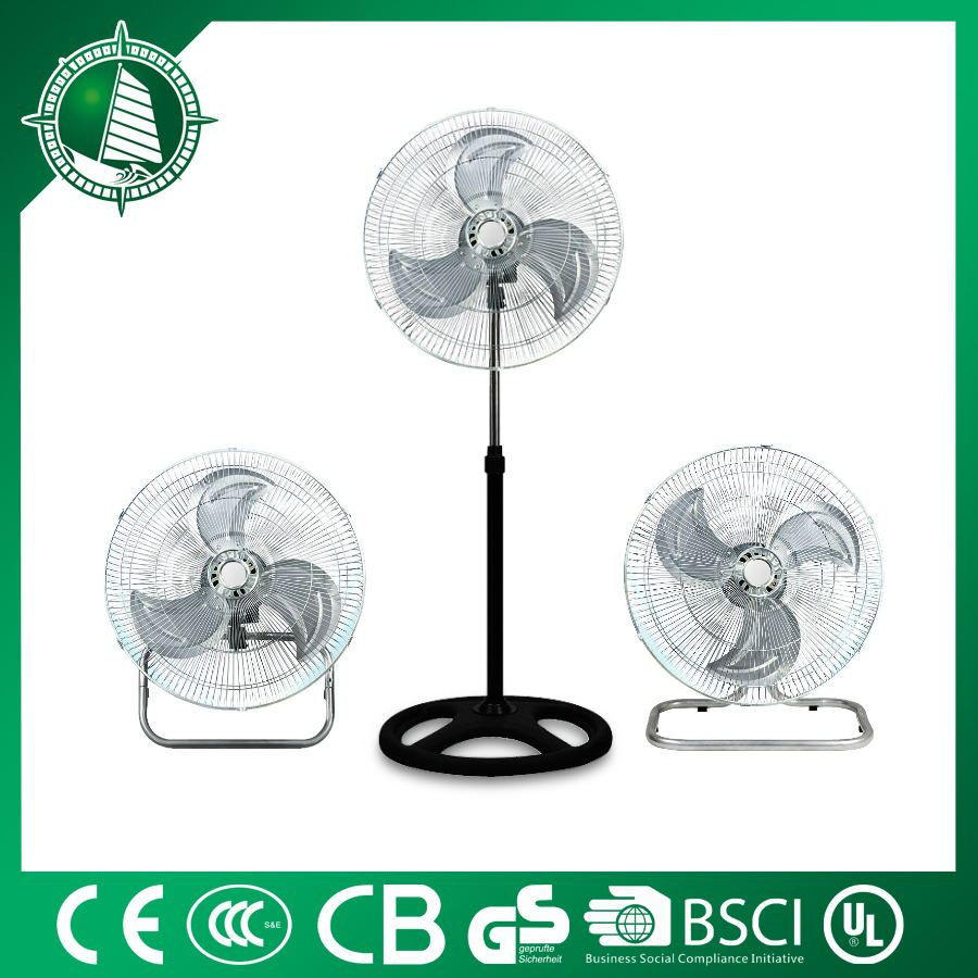 "18"" Ventilation cooling 3in1 electrical industrial stand fan"