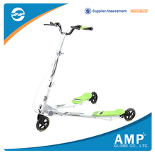 Wholesale lightest stand up 3 wheel adult swing scooter