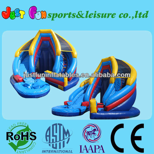 Inflatable giant games for adults with wet and dry slide