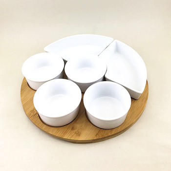 Restaurant used white bulk soup bowls / decorative ceramic plate and bowl