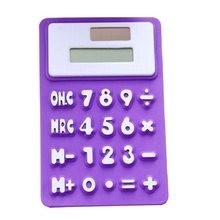 8 Digit Solar Powered Pocket Silicone Calculator,Silicone Foldable Calculator