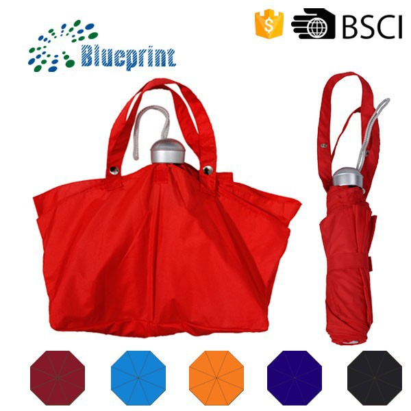 Fashion 3 fold umbrella bag easy taking women umbrella