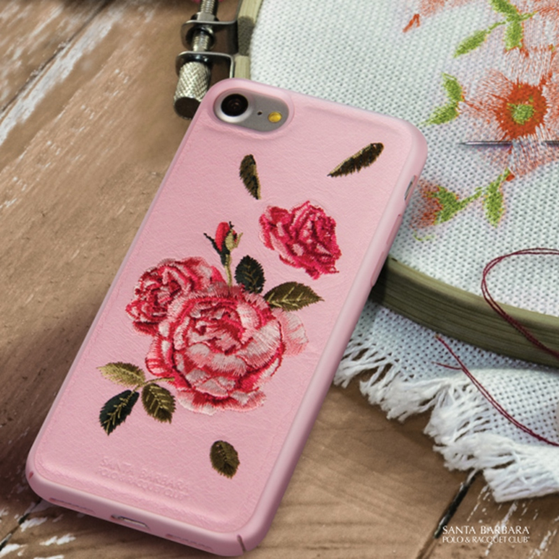 2017 hot sales new design embroidery leather case,leather phone case,for iphone 7 leather case