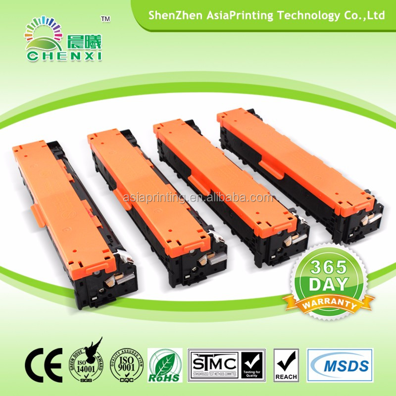Compatible CF210 211 212 213 color toner cartridge for HP laser printer Pro200 color M251nw/ M276n/M131A with Grade A quality