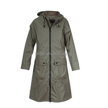 manufacturer price waterproof sexy girls plastic pvc fabric women rain coat