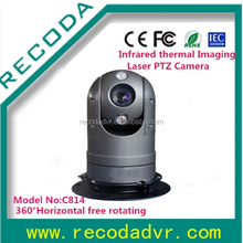 Intelligent Police Vehicle mounted Infrared IR high speed dome camera thermal Imaging Laser PTZ Camera