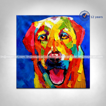 Wholesale High Quality Decorative Abstract Canvas Animal Fine art Oil Paintings Dog