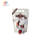 Clear Drink Stand Up Spout Bag With Tap Plastic Ice For Packaging Wine Pouch