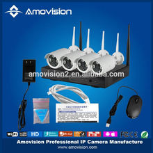 2015 new product wireless network camera kit 4CH 720p outdoor wifi nvr kit free video x china