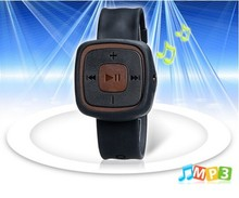 silicone Wrist Watch Design sd Card Reader mp3 music Player (Black),gift mp3 for kids