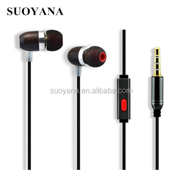 Hot sale gift for your friend earphone ,special wooden earbuds
