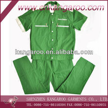 35%cotton,65%poly Mens Workwear short sleeves oil and gas station work Uniform