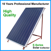 high quality flat plate solar thermal collector with tinox selective coating absorber for solar heating system