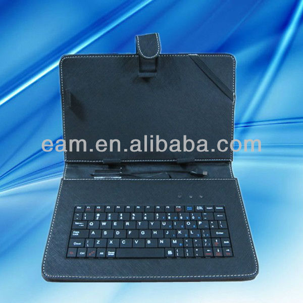 leather case with keyboard for 9 inch tablet pc