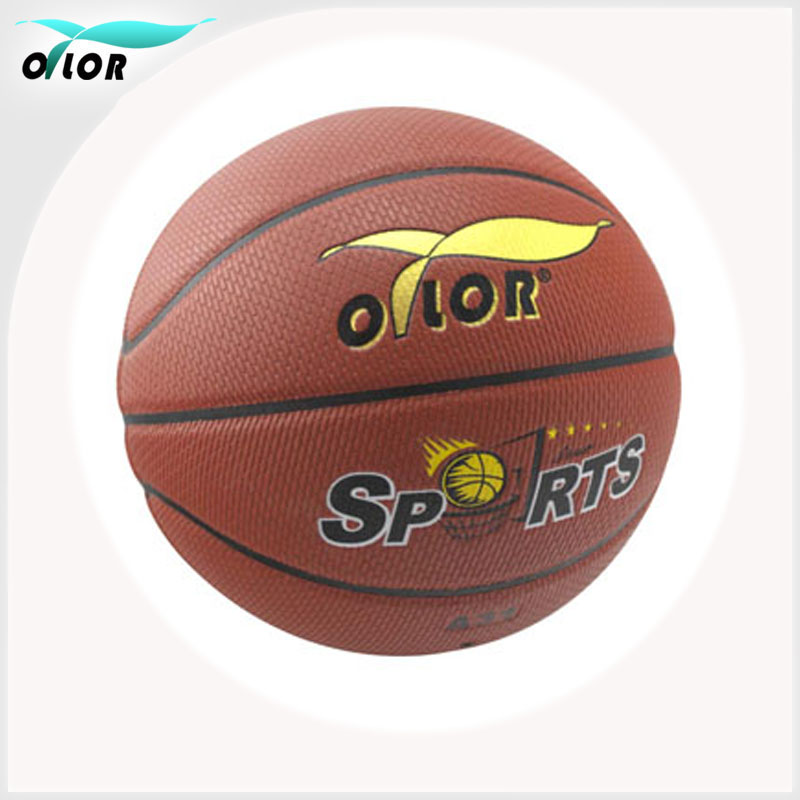 Cheap laminated standard PU leather hotselling basketball