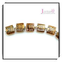 hot striped glass beads