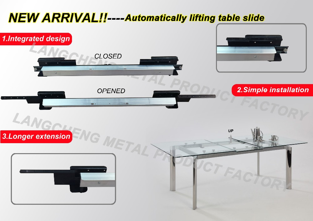 Integrated automatic lifting dinnin table Guide Rail(extension table mechanism)