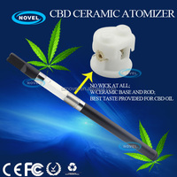 Hot selling herb extract vaporizer pen bud touch CBD ceramic wax e cig atomizer
