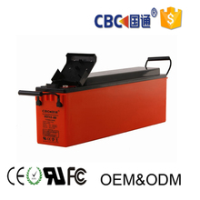 Front Access Solar battery 12v125ah deep cycle AGM battery for telecom system