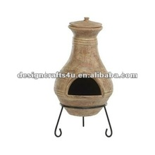 garden terracotta fire pit with stand