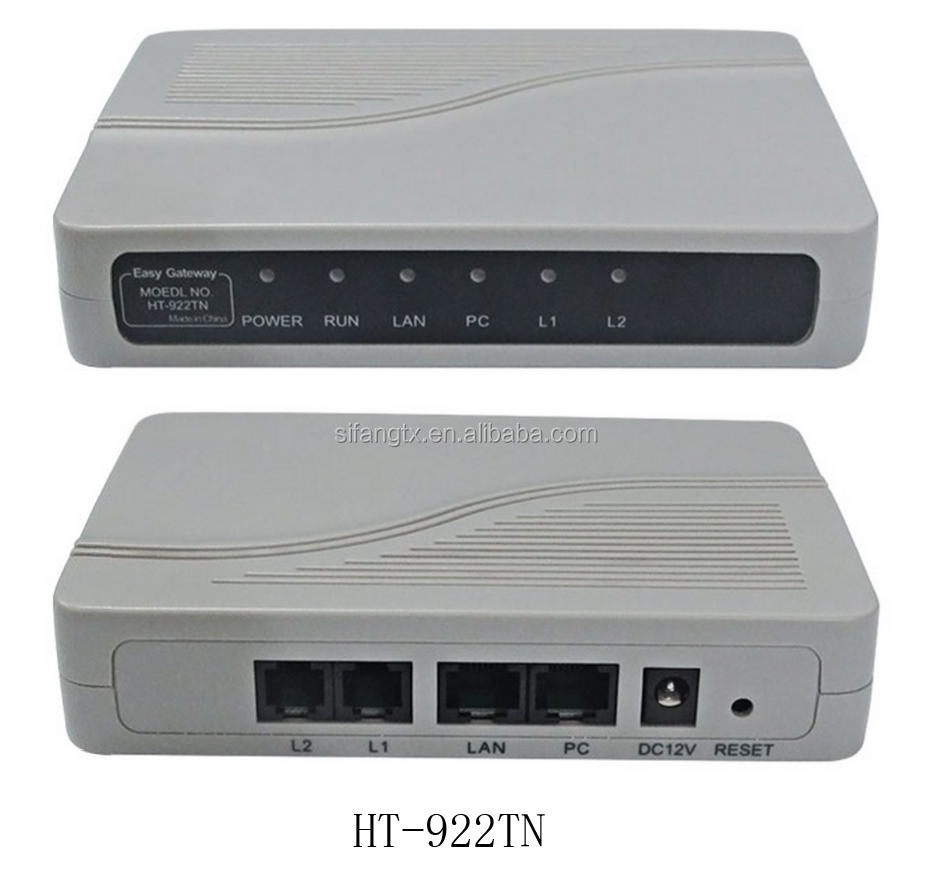 2 FXS/FXO ATA ports VoIP Adaptor VoIP Gateway with SIP&H.323