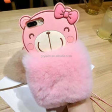Wholesale for iphone7 3D Cute Silicone Cartoon Cell Phone Furry Cover Case