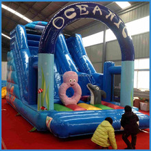 New designed inflatable ocean themed silde, inflatable slide