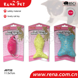 J0732 Cute design customized top quality fur Cat Toys funny pet toys