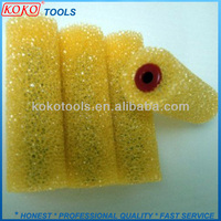 "4"" yellow color texture rough surface refill sponge foam roller"