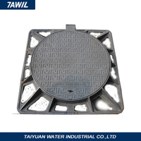 TAWIL German quality hinged frame manhole cover with hadle and road grates
