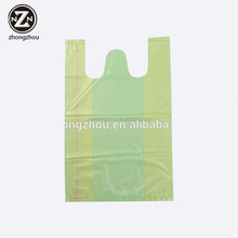 plastic t shirt food bag/vest carrier clear plastic bag for supermarket /biodegradable plastic bags