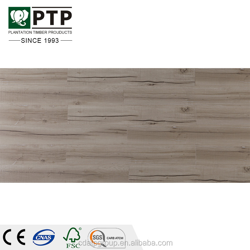 White grey color matt surface AC4 wood laminate flooring options