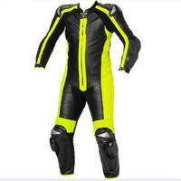 Custom made leather motorcycle racing suit