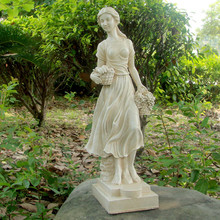 Resin life size garden woman sculpture lady statues molds for sale