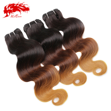 Cheap ombre colored hair weave braiding hair