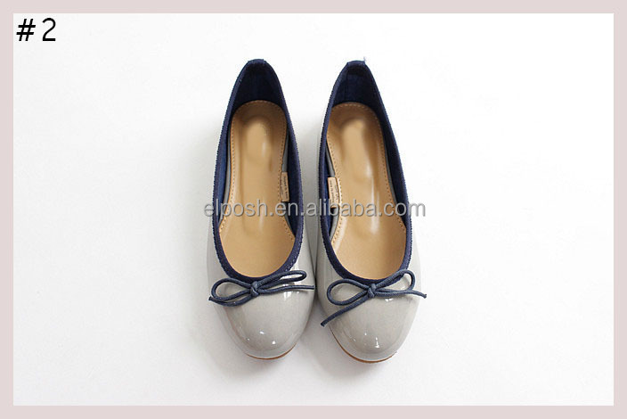 Wholesale Women's Ballet Leather Flat Shoes