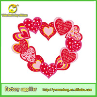 2014 hot sale two designs valentines day wholesale decoration paper red heart sticker heart shaped sticker