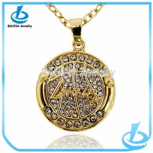 Wholesale gold jewelry pendant charm Laker basketball necklace in alibaba