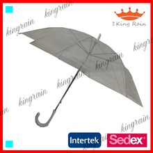 cheapest transparent material clear straight POE umbrella
