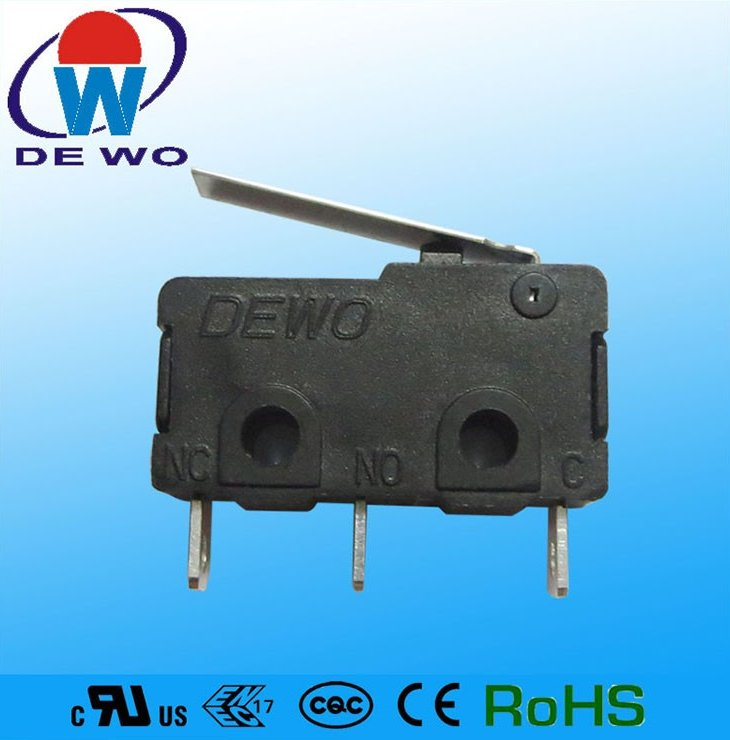 Dongguan motorcycle switch, electrical lever micro switch 5a 250v