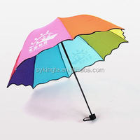 Kid 3Folding umbrella rainbow umbrella printing logo is available