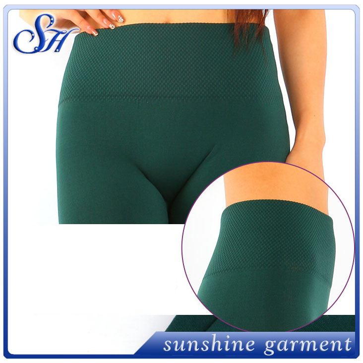 Customised high waistband 90% polyester 10% spandex plus seamless women leggings