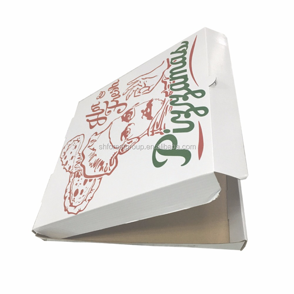 9 inch pizza style box in <strong>Black</strong> or white with window cut out in top