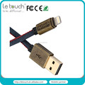 Data sync and charger MFi certified 8pin usb cable Denim style