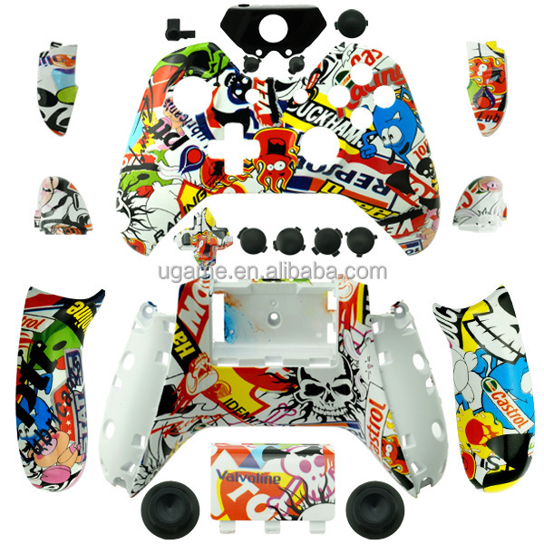 for Xbox One Sticker Bomb Hydro Dipped Controller Shell