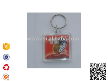 clean custom Square Acrylic plastic Key Chain