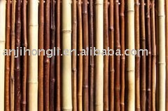 Eco-friendly Natural Black bamboo fencing