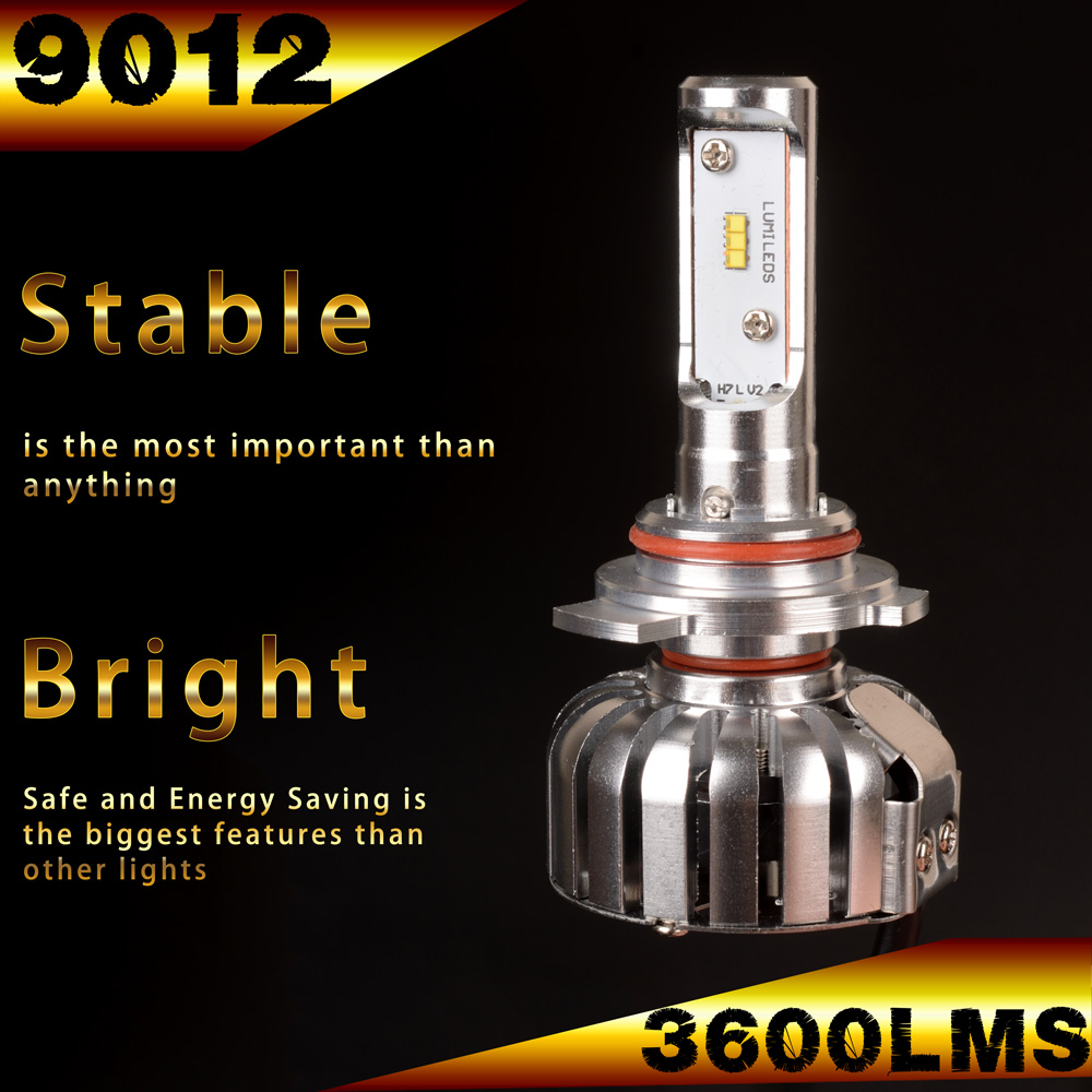 B&G 2016 HOT SELL 9012 PHILIP LED Headlight bulb 36W 3600Lms White Beam 6000K with Good Dispation
