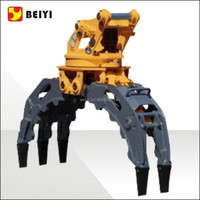 hydraulic wood grapple ,stone grapple to be used on excavator