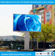 High brightness full color p10 flexible advertising led screens outdoor
